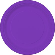 "7"" Neon Purple Party Plates, 20ct"